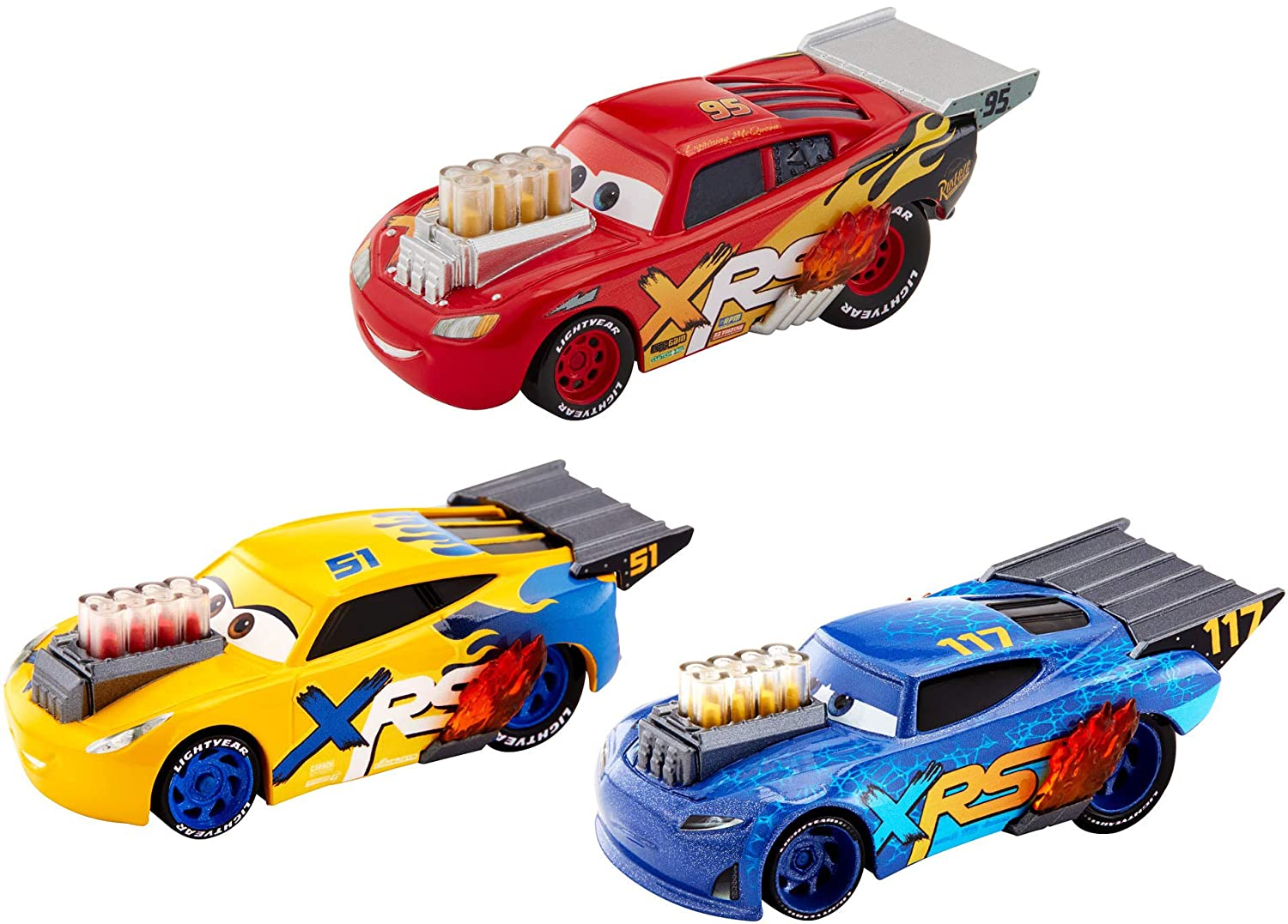 Disney Pixar Cars XRS Drag Racing 3-Pack