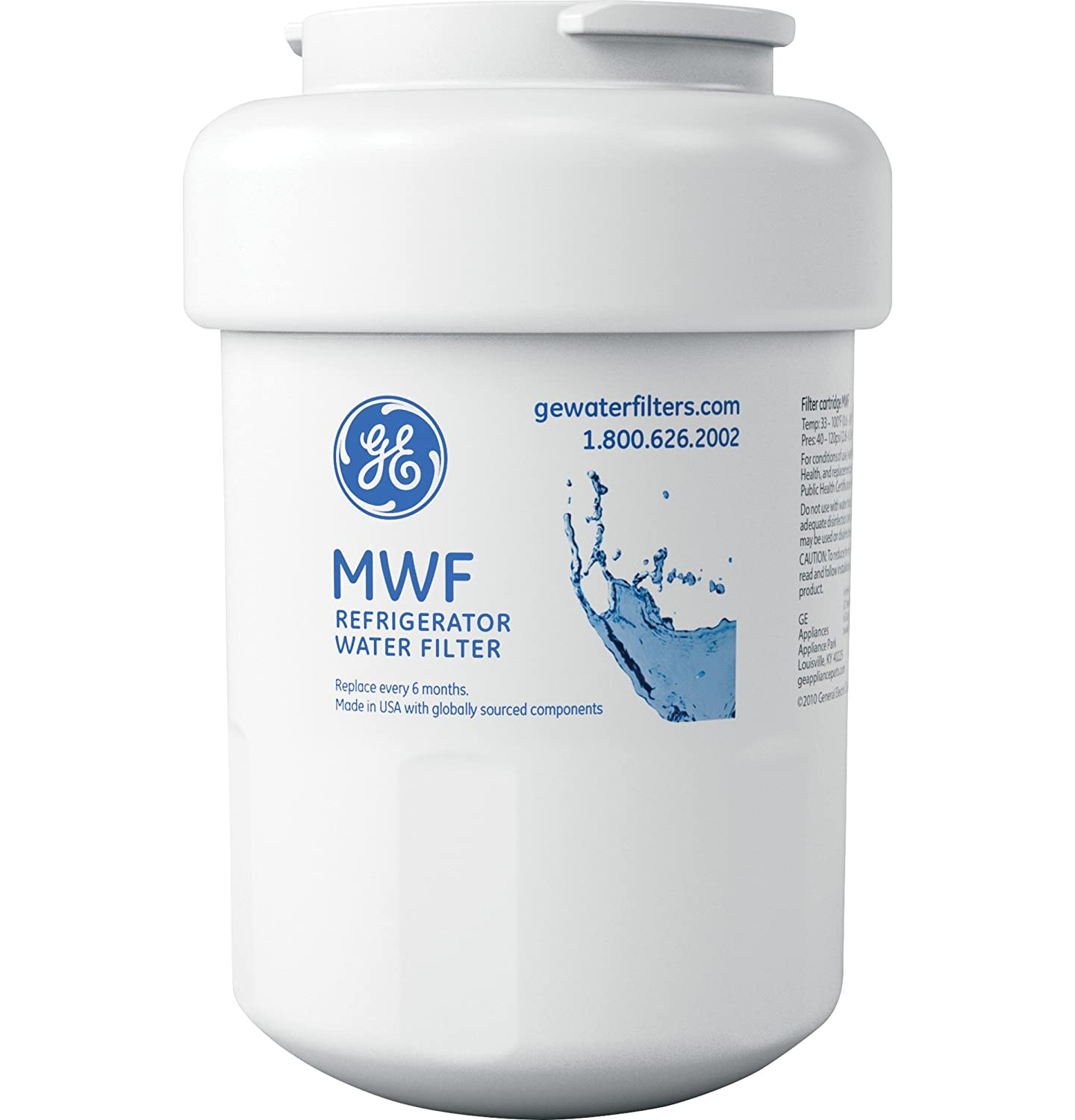 Ge Smartwater Refrigerator Filter Replacement Cartridge Amazoncom General Electric Mwf Refrigerator Water Filter Home