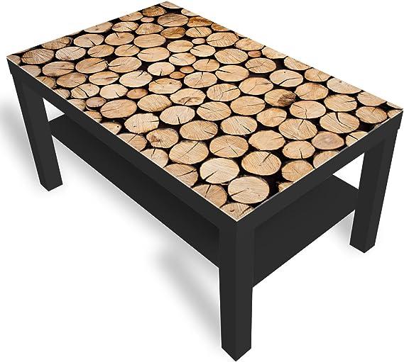 DekoGlas IKEA Lack Beistelltisch Couchtisch &39;Holz&39; Sofatisch mit Motiv Glasplatte Kaffee Tisch ...