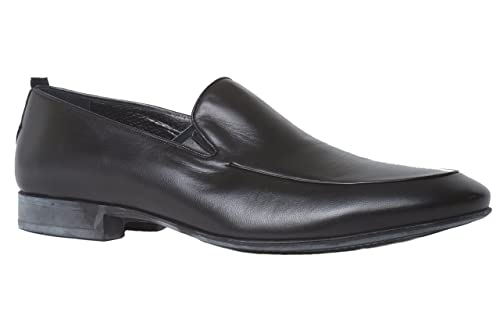 Amazon Rossi 1386 Pr Italian Mens Black Leather Slip On Shoes