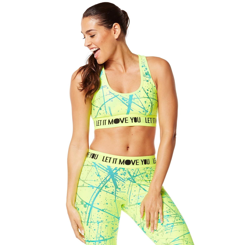 d6c5e4e64e399 Zumba Fitness Women s WT Hyper Melt Metallic Scoop Bra-Caution