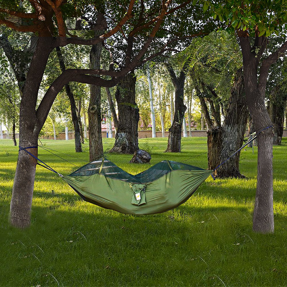 ESYGO Mosquito Hammock for Backpacking, Beach, Back Yard, Travel or Any Adventure
