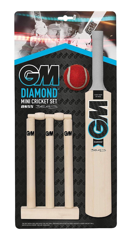Azul y Blanco Gunn /& Moore GM Cricket Diamond Color Negro Juego de Mini Cricket Talla /única