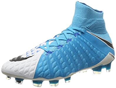389b349ff37 Nike Men s Hypervenom Phantom III Dynamic Fit Soccer Cleats (8) White Blue