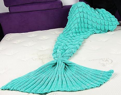 Amazon.com: Cobija tipo cola de sirena para adultos para ...