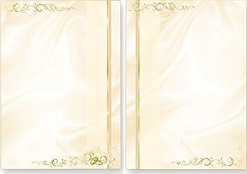 Briefbogen Hochzeit perlmutt (1.000 Stück) beidseitig bedrucktes A4 ...