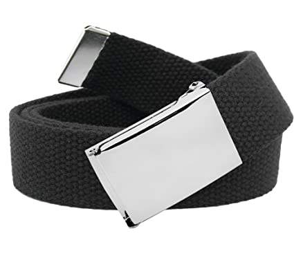 Amazon.com  Classic Silver Women s Flip Top Military Belt Buckle ... e54c019b51f