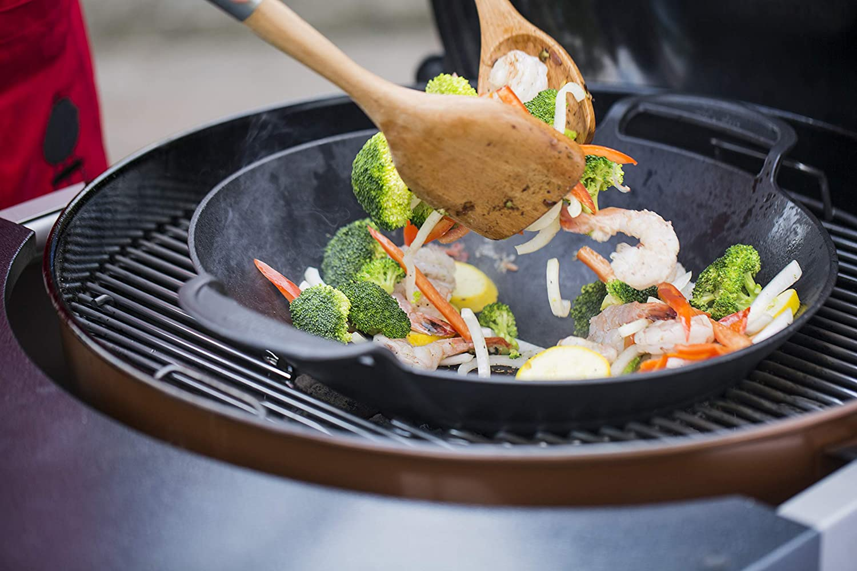 Enders Gasgrill Wok : Weber grill wok pfanne santos wok xxl aus gusseisen für gasgrill