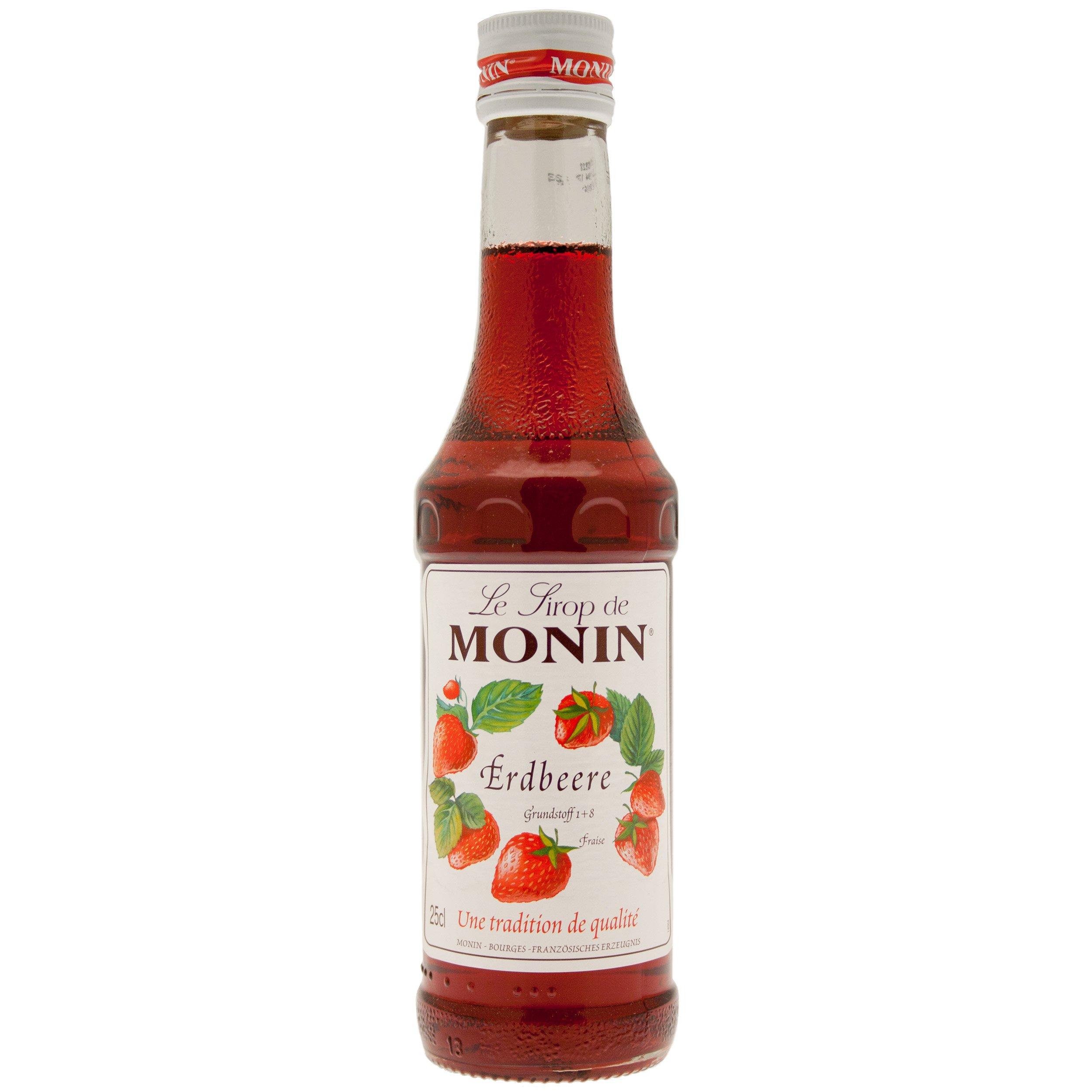 Monin Erdbeere / Fraise Sirup, 250 ml Flasche