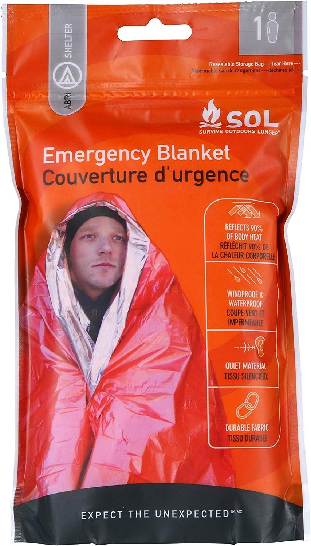 retains body heat, Mylar waterproof  J3L1 Emergency survival blanket 5 pieces