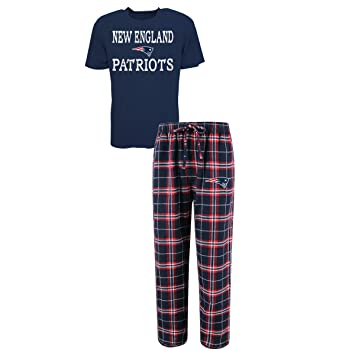 New England Patriots Mens Scatter Pattern Pajama Lounge Multi Color Pants