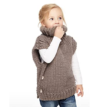 3dd8f529372c Amazon.com  Sumolux Girls Knit Turtleneck Sweater Jumper Vest ...