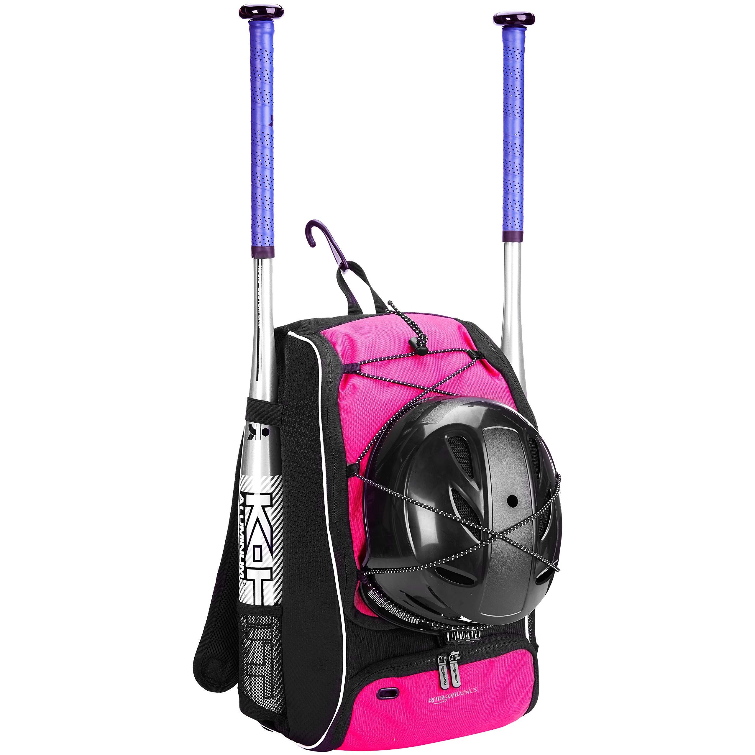 AmazonBasics Youth Baseball Equipment Backpack, Pink