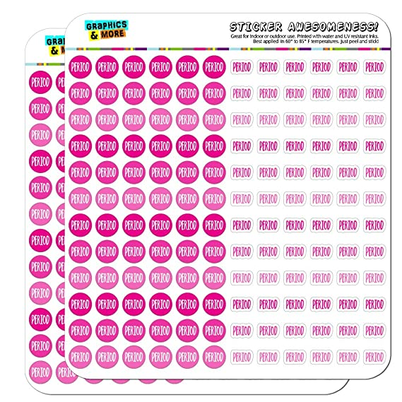 Period Dots Planner Calendar Scrapbooking Crafting Stickers - Pink - Opaque