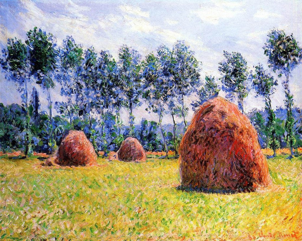 Monet Claude Haystacks at Giverny 1 100% Hand Painted Oil Paintings Reproductions 12X16 Inch