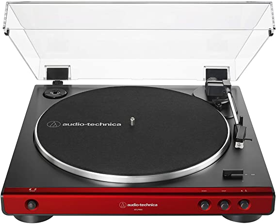 Audio-Technica AT-LP60X-RD Fully Automatic Belt-Drive Stereo Turntable