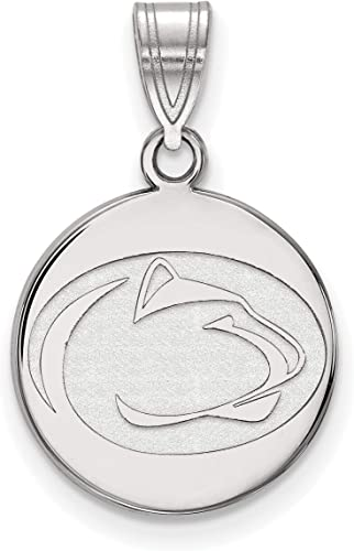 University of Georgia Bulldogs Mascot Logo Disc Pendant in Sterling Silver