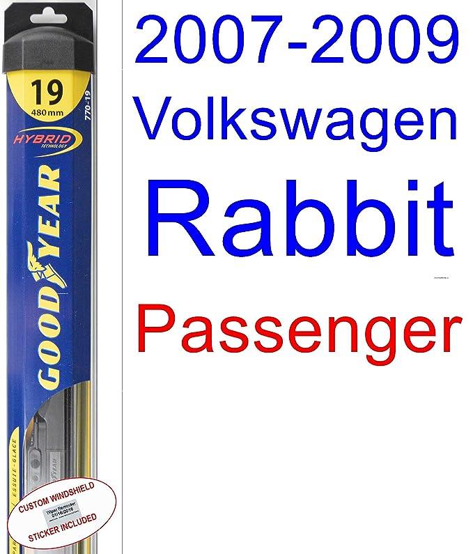 Amazon.com: 2007-2009 Volkswagen Rabbit Wiper Blade (Passenger) (Goodyear Wiper Blades-Hybrid) (2008): Automotive