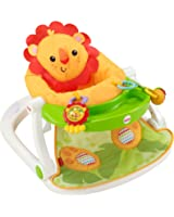Fisher-Price Sit-Me-Up Floor Seat with Tray, Orange