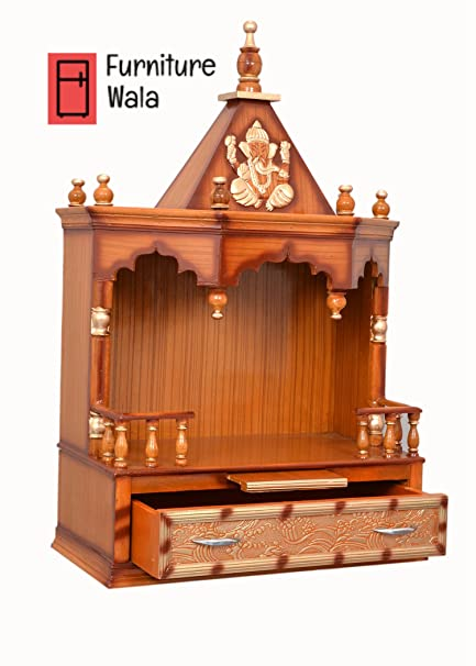 Buy Furniture Wala Wooden Home Temple Puja Mandir Wooden Temple