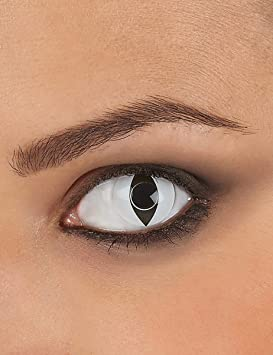 Lentillas de contacto blancas ojo de reptil - Única: Amazon.es: Juguetes y juegos