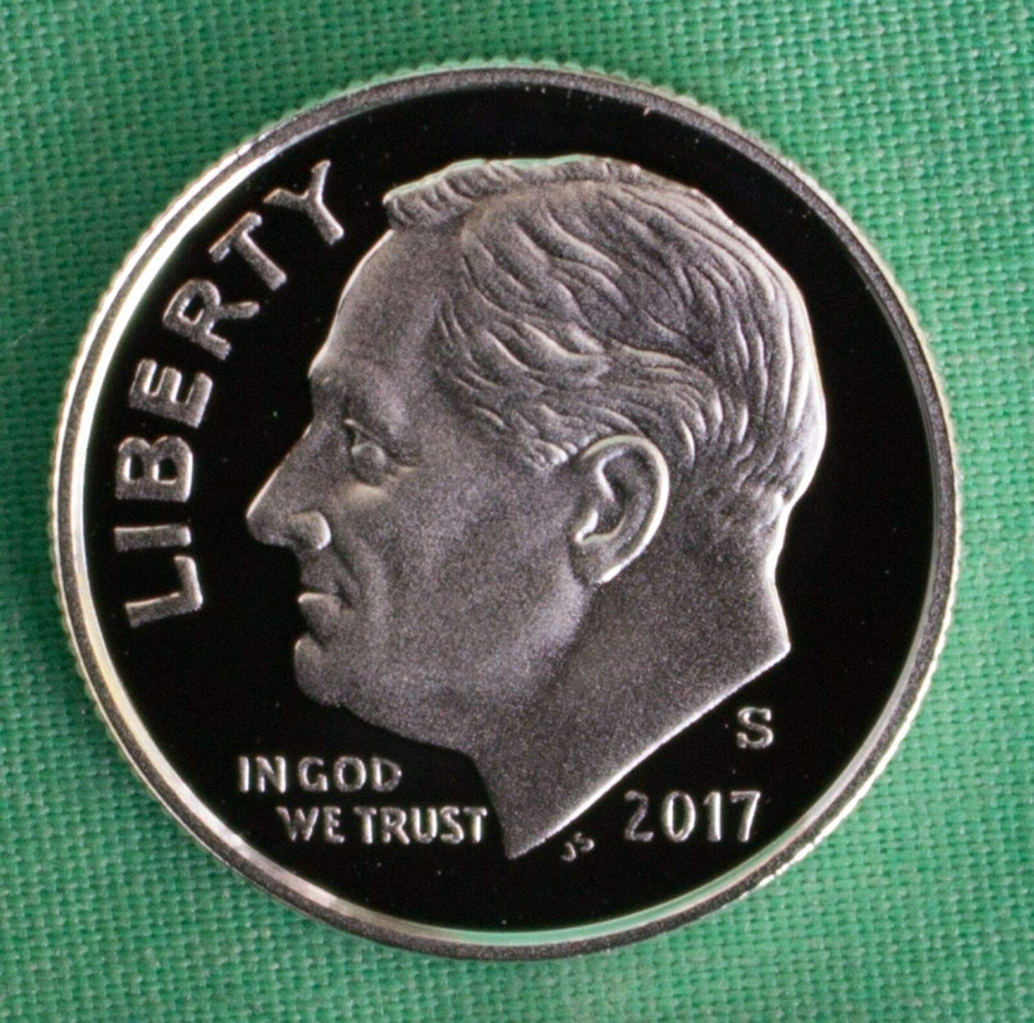 Clad Deep Cameo Proof 2017-S Proof Roosevelt Dime