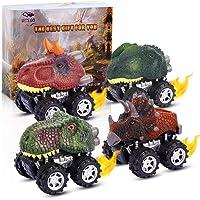 ATOPDREAM Coche de Dinosaurio 4/6/9 Piezas - Juguetes Niños/Regalos de Cumpleaños para Niña/Juegos Familiares