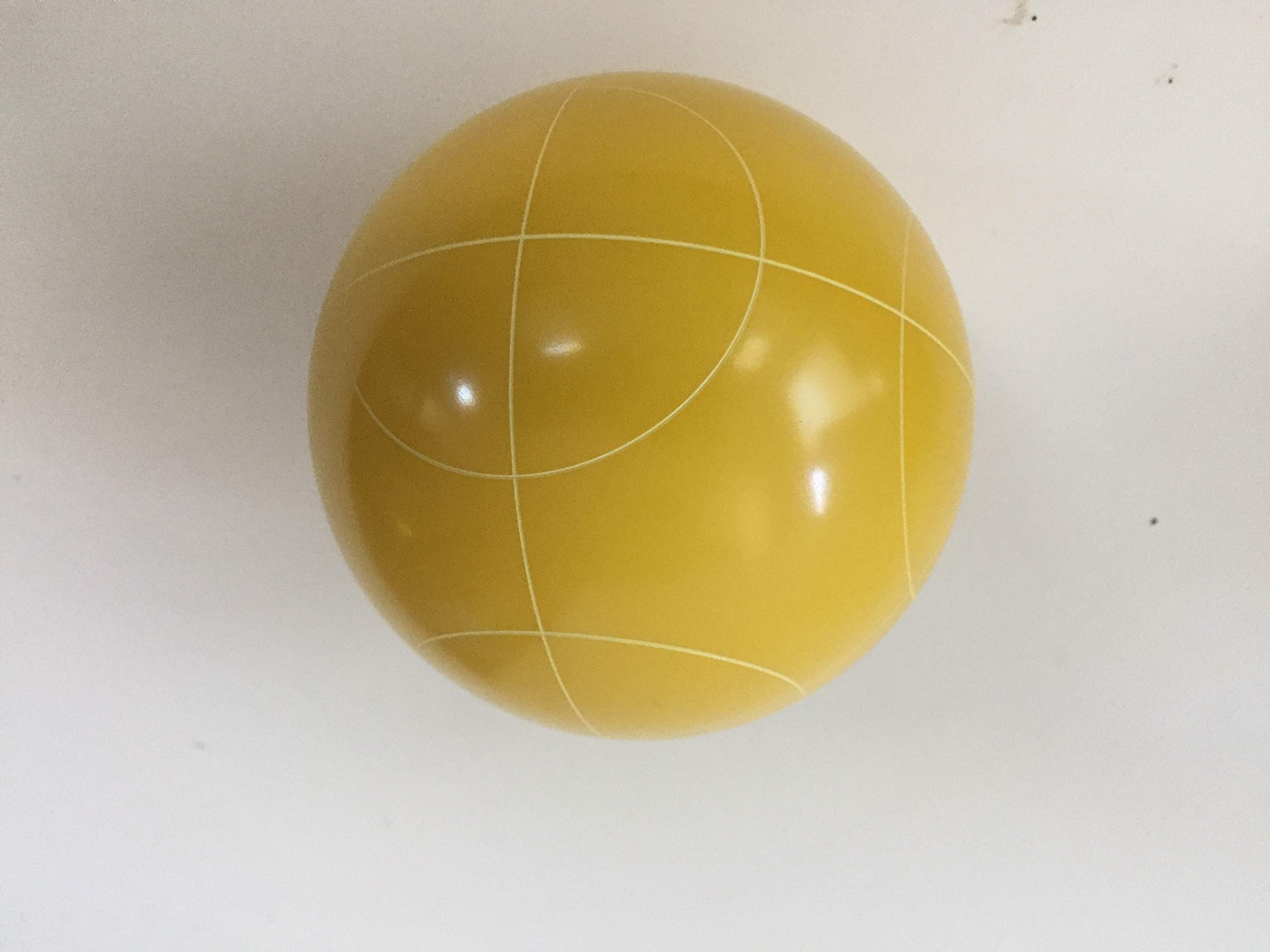 Replacement Bocce Ball - 107mm - Yellow with Circle Pattern