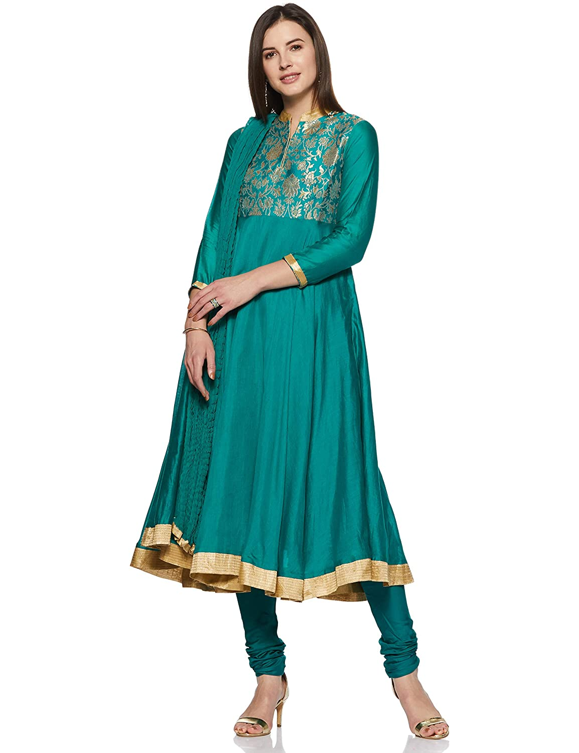 d7a68106e58 BIBA Women's Anarkali Salwar Suit: Amazon.in: Clothing & Accessories