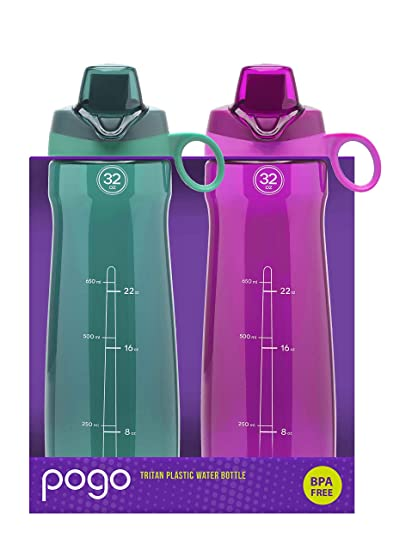 fc5d96133d Amazon.com : Pogo 32oz Chug 2-Packs (Fuchsia/Quetzel Teal), BPA Free ...