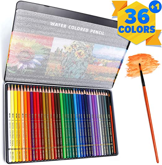 PuTwo Lápices de Colores, 36 Piezas de Lápices de Acuarela ...