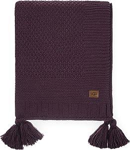 UGG Preston Sweater Knit Tassel - Chunky Throw Blanket, Sassafras