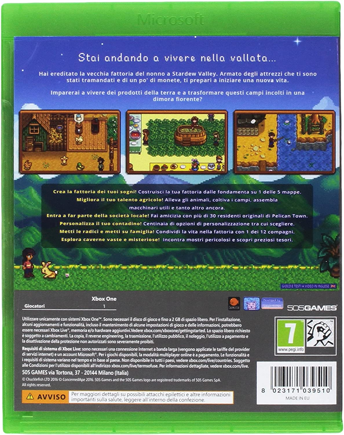 Stardew Valley - Xbox One [Importación italiana]: Amazon.es ...