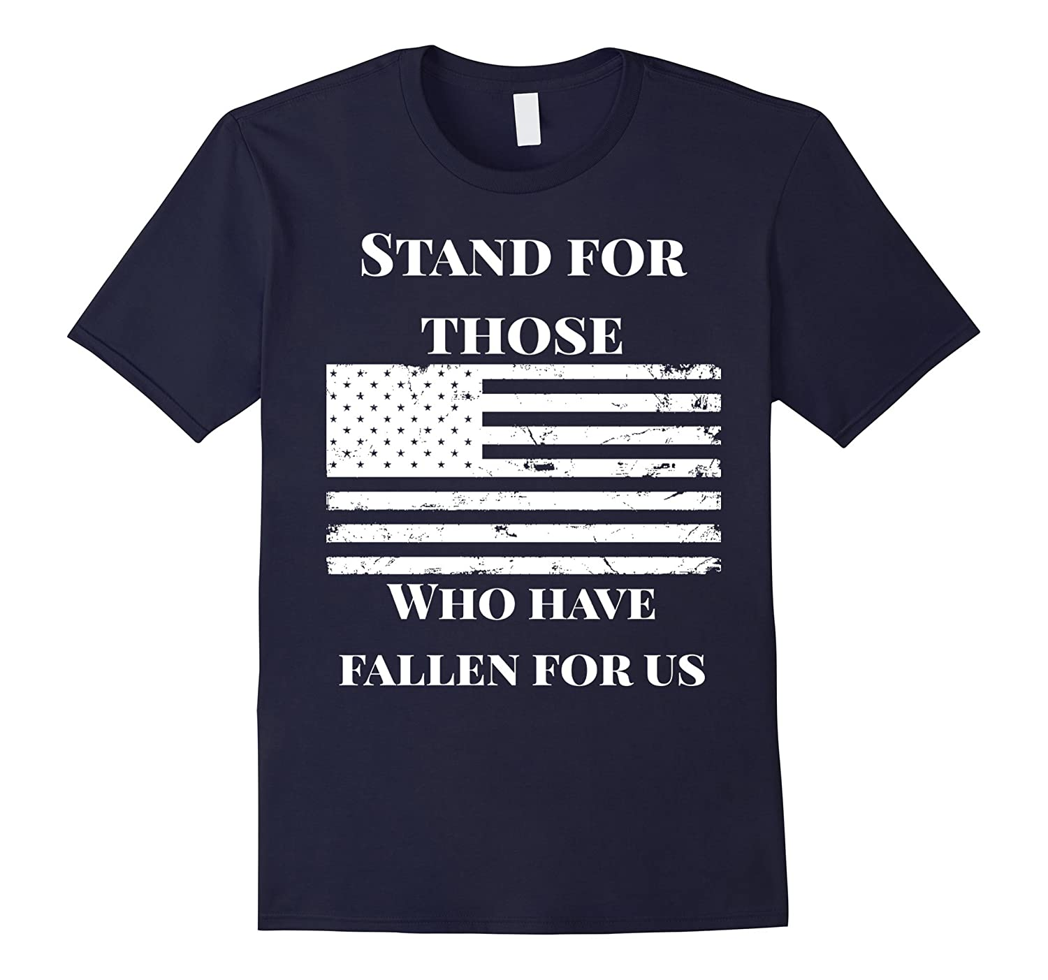 Dont Kneel Distressed American Flag USA Patriot T-Shirt-BN