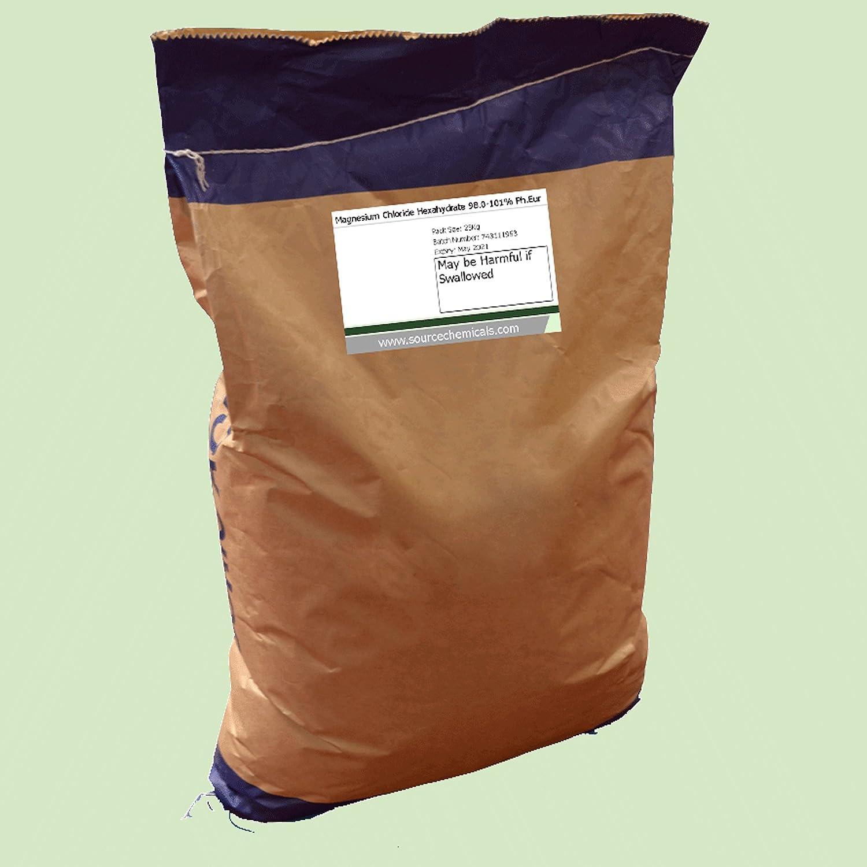 Saco de 25 kg de cloruro de magnesio hexahidrato (sal del mar muerto): Amazon.es: Industria, empresas y ciencia