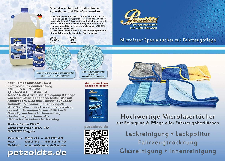 2 Petzoldts Profi Microfasertücher Zum Lack Vorpolieren Und Nachpolieren Auto