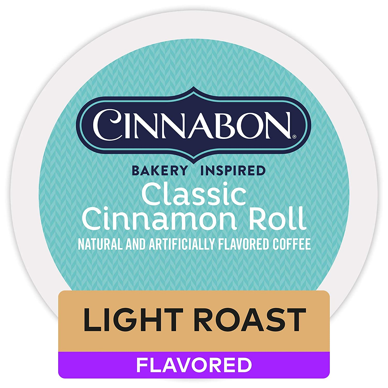 Cinnabon Classic Cinnamon Roll Keurig Single-Serve K-Cup Pods, Light Roast Coffee, 12 Count (Pack of 1)