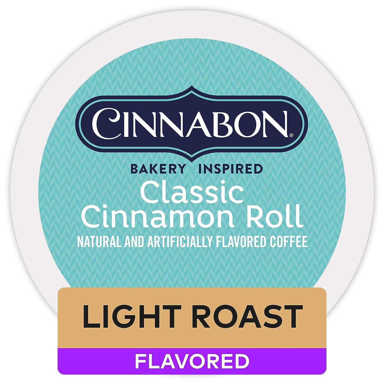 Cinnabon Classic Cinnamon Roll, Single Serve Coffee K-Cup Pod, Flavored Coffee, 72