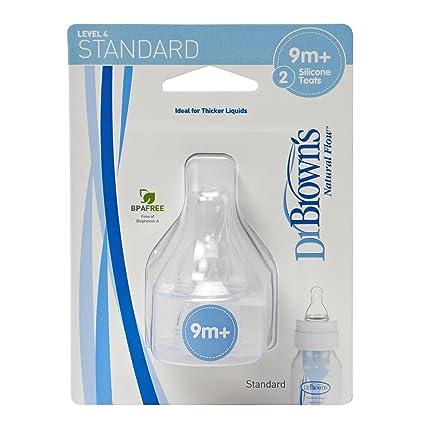 Dr. Browns 313 - Tetinas de silicona estándar, nivel 4