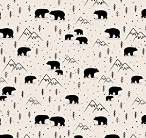 Bear Baby Shower Birthday Wrapping Paper - Folded Flat 30 x 20 Inch (3 Sheets)
