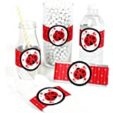 Modern Ladybug - DIY Party Supplies - Baby Shower or Birthday Party DIY Wrapper Favors & Decorations - Set of 15