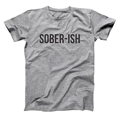 80f3495d41760 Amazon.com  Funny Threads Outlet Sober Ish Mens Shirt  Clothing