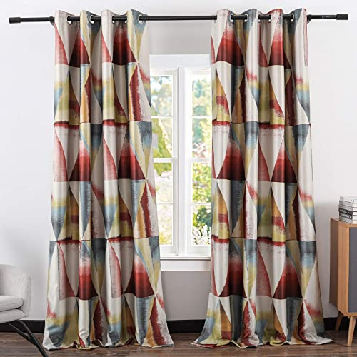Leeva Blackout Red Window Curtains