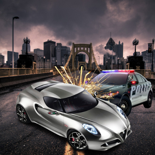 Police Car Vs Furious Racer City Racing Edition (Halloween Save Us)