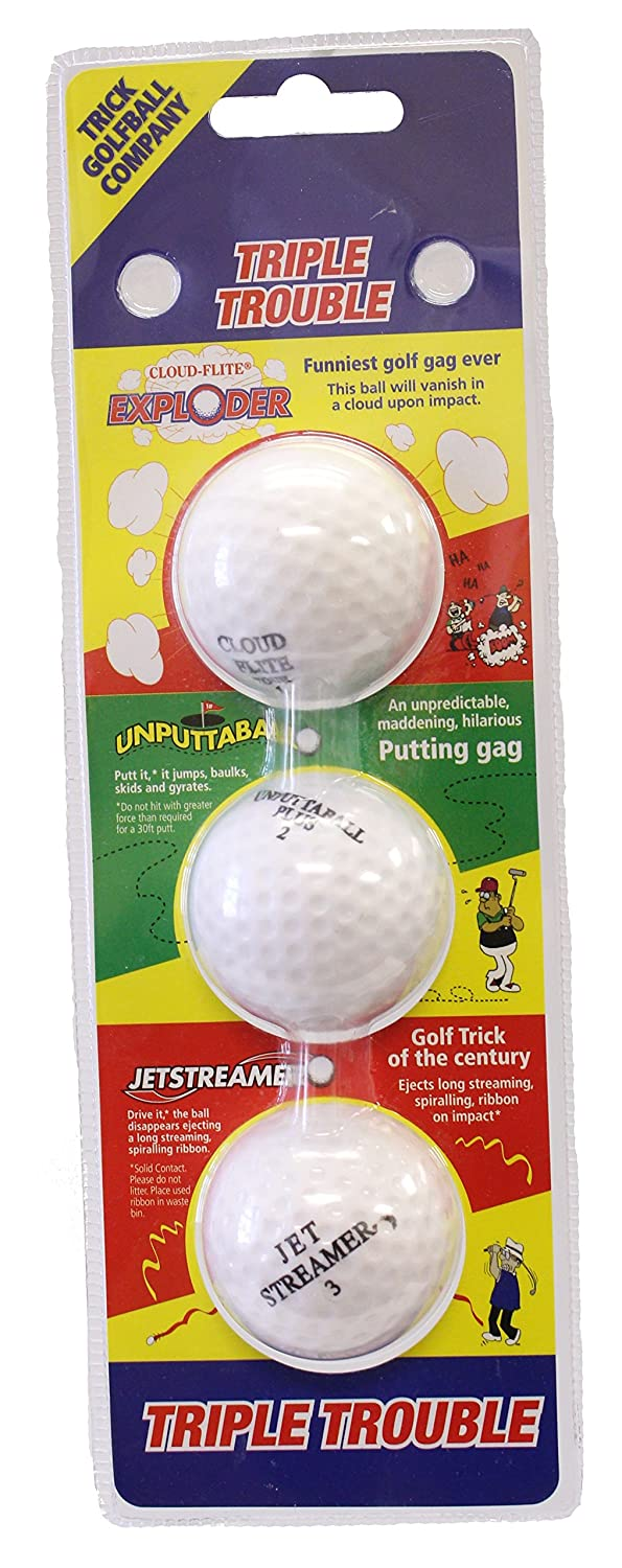 Triple Trouble Trick Golf Balls   B074CLN911