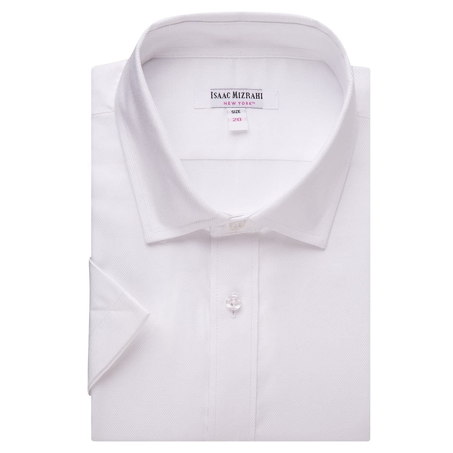 Isaac Mizrahi Boys 2-20 100% Cotton Short Sleeve Twill Dress Shirt - Colors 9248