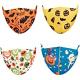 Jamal Kids Face Mask Washable Kids Ice Silk Face Covering with Adjustable Ear Loops for Protection, Reusable Cute Face…