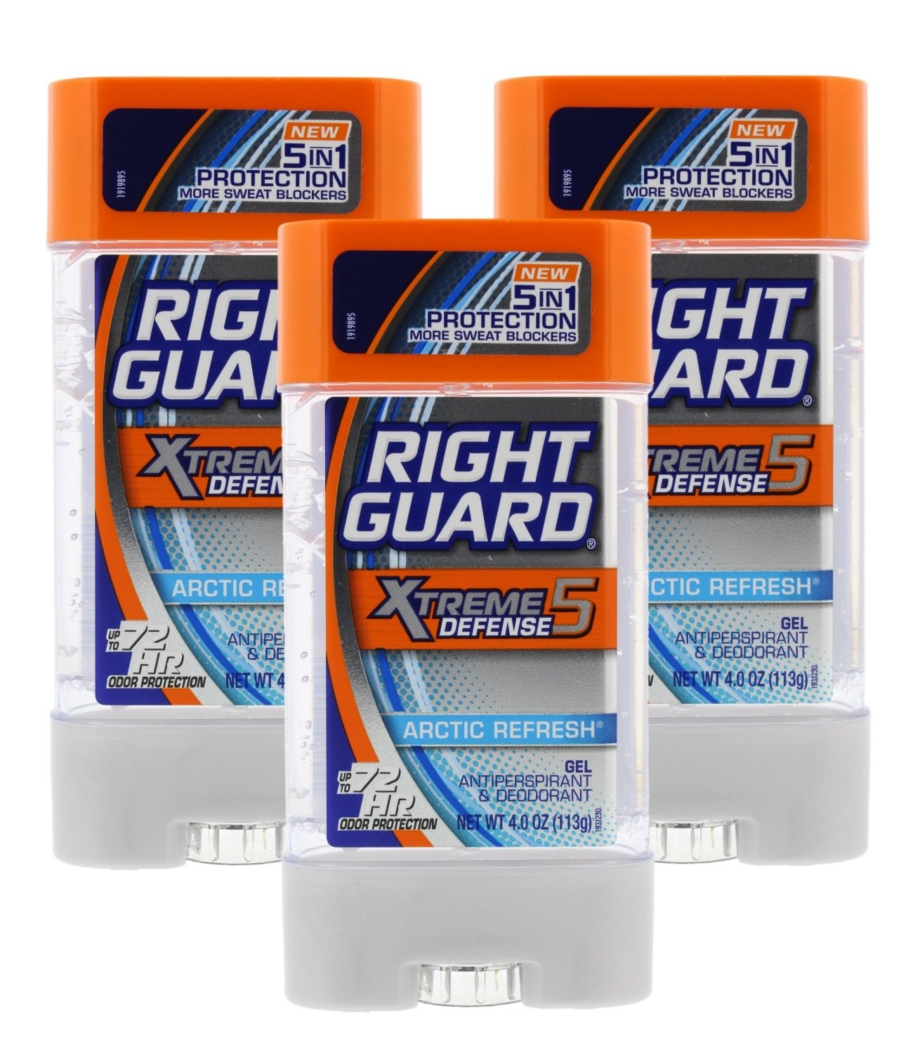 Right Guard Total Defense 5 Power Gel, Antiperspirant and Deodorant, Artic Refresh 4 Ounce (Pack of 3) by Right Guard (Image #1)