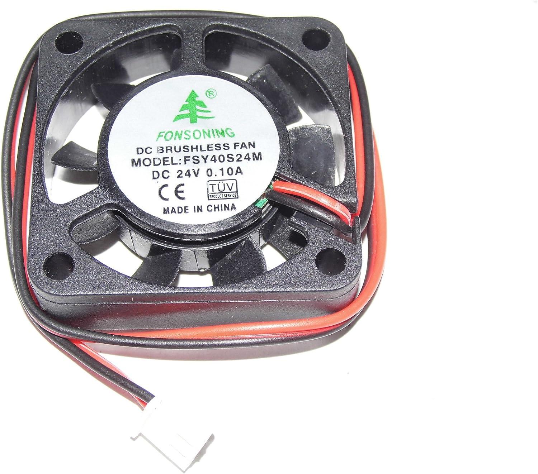 FSY40S24M 24 V 0,1 A 2Wire 4 cm ventilador cuadrado: Amazon.es: Electrónica