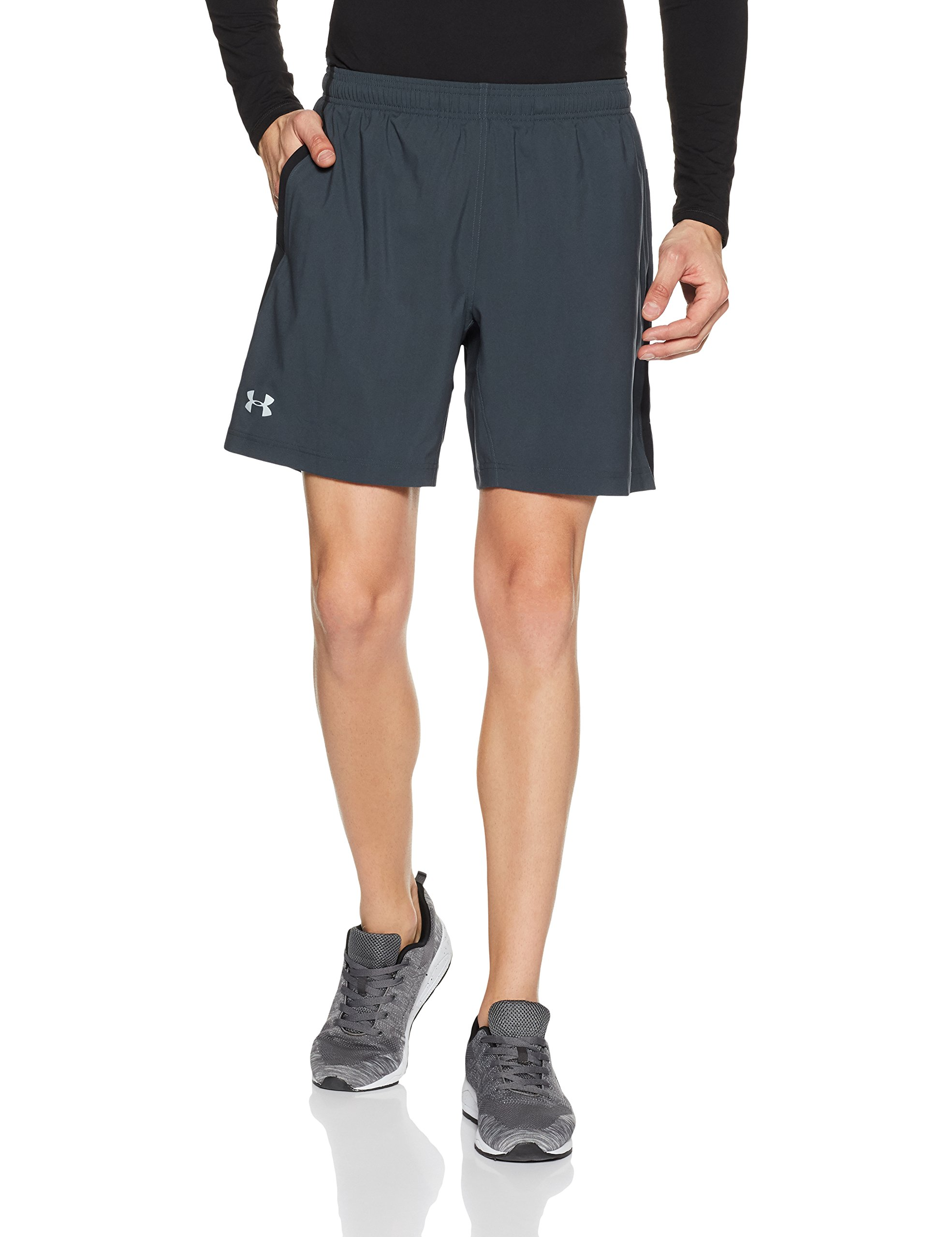 Under Armour Men's Launch 2-in-1 Shorts, Stealth Gray (008)/Reflective, Small